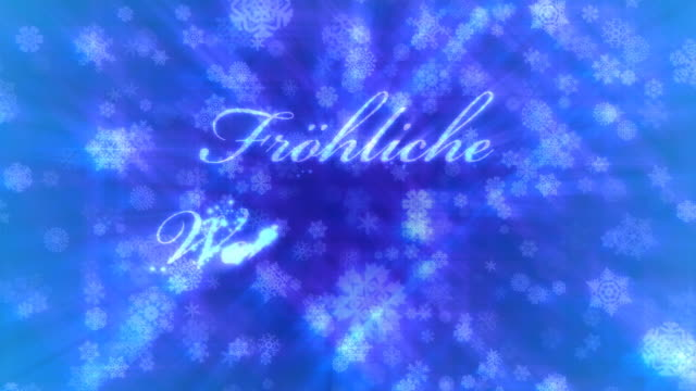 Frohliche Weihnachten: Merry Christmas in German, loopable from 9:00-17:00 video