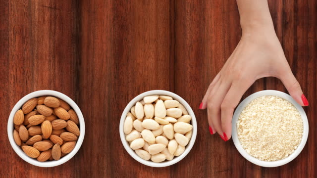 From almonds to flour video