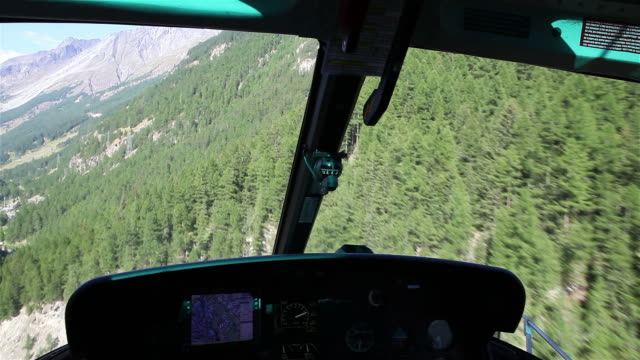 Front POV of helicopter ride through Alps video
