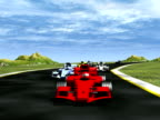 Front view car race - NTSC video