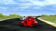 Front view race cars - HD 1080i video