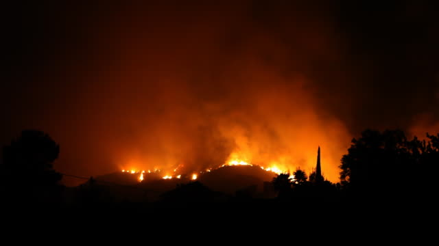 Frontline of Fire At Night video