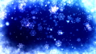 Frosty Blue Snowflakes Christmas Background video