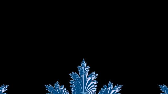 Frosty fractal animation HD video video