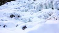 Frozen waterfall Delaney, St-Raymond de Portneuf, Quebec video