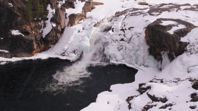 Frozen waterfall video