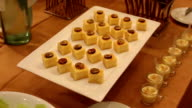 Fruit and dessert decorate for wedding ceremony, dolly shot video