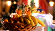 fruit  and vegetables on the plate video