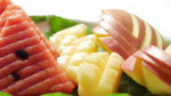 Fruit Apple , Pineapple , watermelon , Panning right to left , UHD Format video