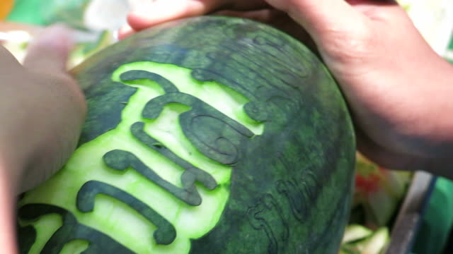 Fruit carving video