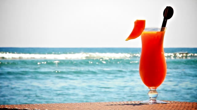 Fruit cocktail on the beach video
