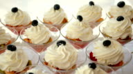 fruit glasses with cream and berries video