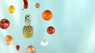 Fruits and vegetables rotating video