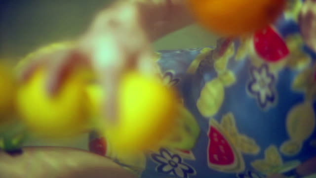 fruits under water video