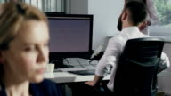 Frustrated businessman at the office video