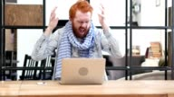 Frustrated Man Screaming, Working on Laptop in Office video