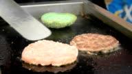 fry meat patties video