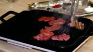 fry meat video