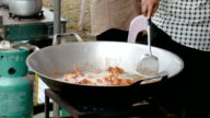 Frying chicken meat video