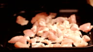 Frying chicken video