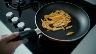 Frying french fries video
