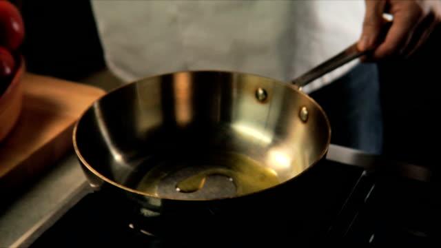 Frying onions video