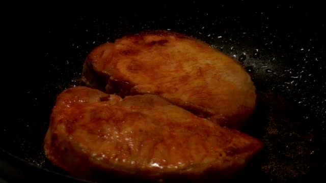 Frying Porc Steaks video