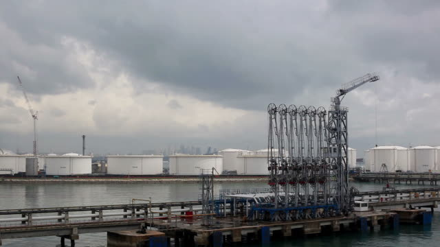 Fuel oil Terminal panorama. video