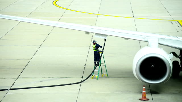 HD - Fueling an airplane video