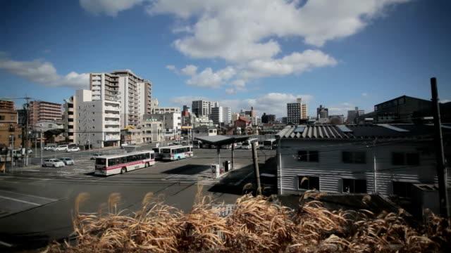 Fukuoka city view from train video