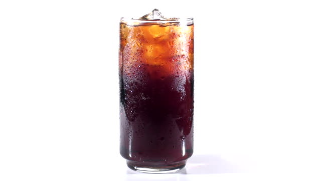 Full glass of cola - HD video
