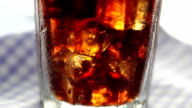 Full glass of cola video