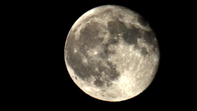 Full moon at night video