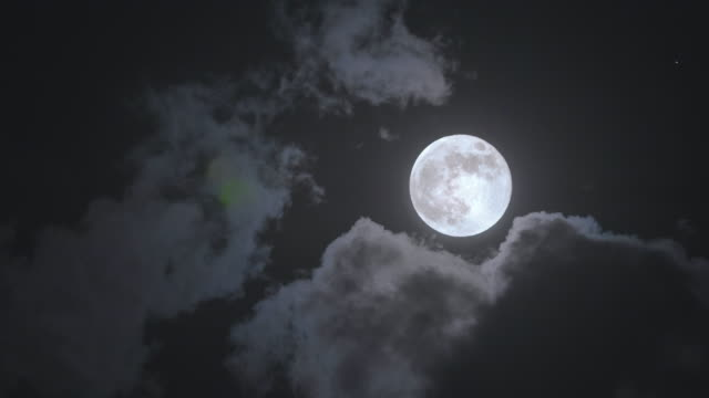 Full moon close up video