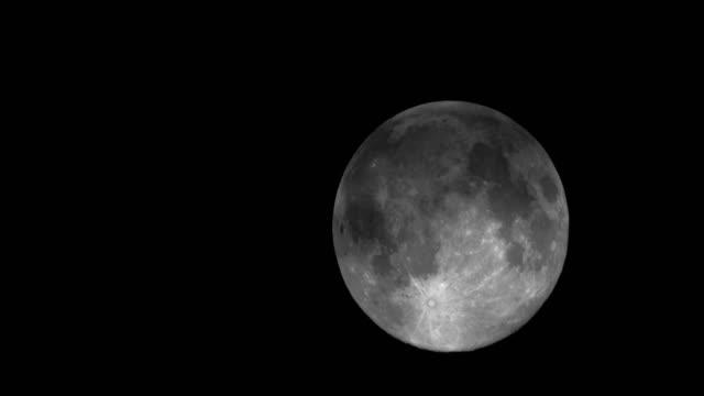 Full moon moving night sky 4K Time Lapse Video video