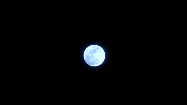 Full moon on a clear night video