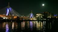 Full Moon over Boston, Massachusetts video