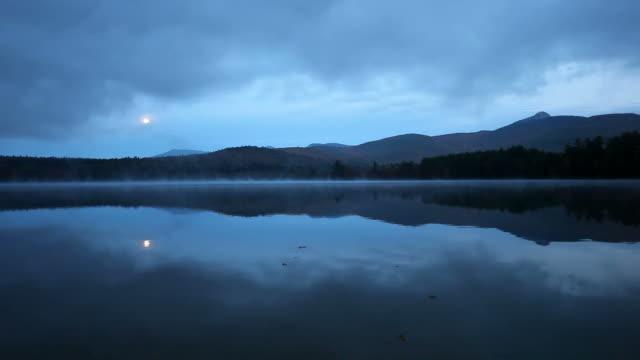 Full moon over Chocorua Lake video