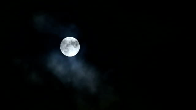 Full moon over the clouds video