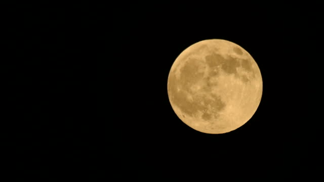 Full moon rising up from entry to exit HD Video video