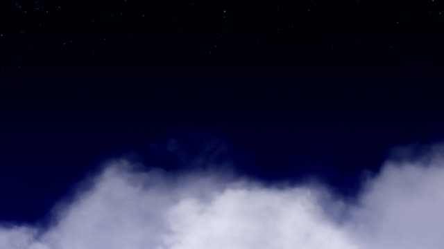 Full Moon through the clouds video