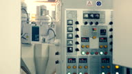 Full work cycle of industrial extrusion equipment video