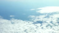 FullHD Hd Ultra, Traveling by air. Wonderful view of the sky and clouds with the light video