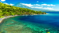 FullHD Timelapse. Beautiful beach cove Jemeluk Bay. 15 July 2015, Bali, Indonesia video
