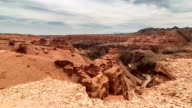 FullHD TimeLapse. Castle in Charyn grand canyon video