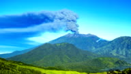 FullHD Timelapse. Eruptions Raung volcano, panoramic view. East Java, Indonesia - 25 July 2015 video