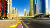 FullHD TimeLapse. Highway traffic Dubai centre video