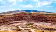FullHD Timelapse. Large mine iron ore. video
