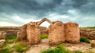 FullHD Timelapse Old castle ruins in the ancient city Sauran, Kazakhstan video