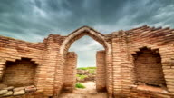 FullHD Timelapse Ruins castle of the UNESCO heritage site in city of Sauran, Kazakhstan video